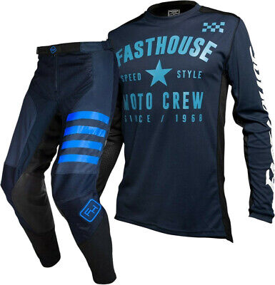 Fasthouse Speedstyle Motocross MX Offroad Gear Kit Navy Phantom Navy Adults