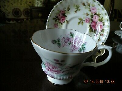 Royal Albert Bone China Roses Flower of Month Cup and Saucer - England
