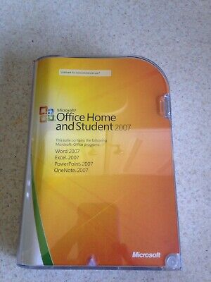 Microsoft Office Home and Student 2007 (3-User) With Product Key Well Kept
