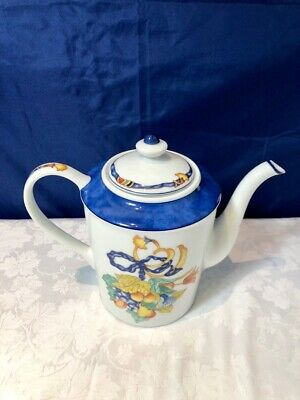 Bernardaud Limoges Porcelain Borghese Bleu Coffeepot / Cafetiere NEW IN BOX