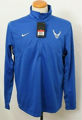 NEW U.S. Air Force Nike Dri-Fit Game Royal Training 1/4 Zip Jacket Men's L