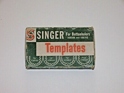 Vintage Singer Sewing Machine Buttonhole Templates 160668 for 16056 and 160743