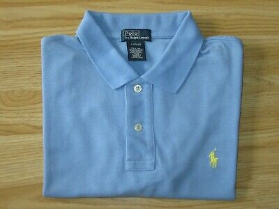 Boys POLO by RALPH LAUREN Blue Cotton Short Sleeve T-Shirt Sz L 10-12 yrs years