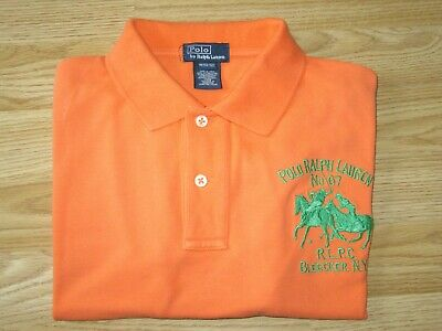 Boys POLO by RALPH LAUREN Orange Cotton Short Sleeve T-Shirt Sz M 8-9 yrs years