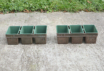 Vintage bakers tins old metal bread tins planter display - FREE DELIVERY