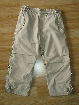 BOYS KIDS Maharishi CAMOUFLAGE BEIGE TROUSERS PANTS SZ 4-5 YEARS YRS VGC