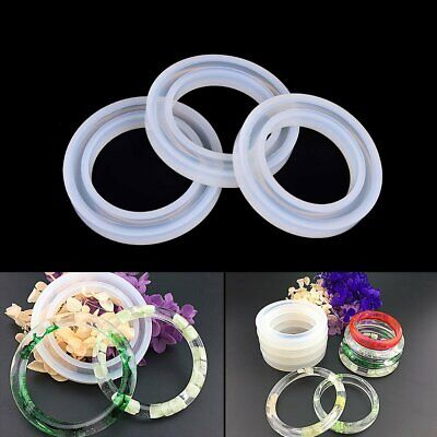 Silicone Mold Casting Resin Bangle Bracelet Jewelry Making Mould 56mm/60mm/62mm