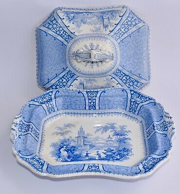 1838-41 Antique Blue & White Tureen VERSAILLES by Robinson Wood & Brownfield