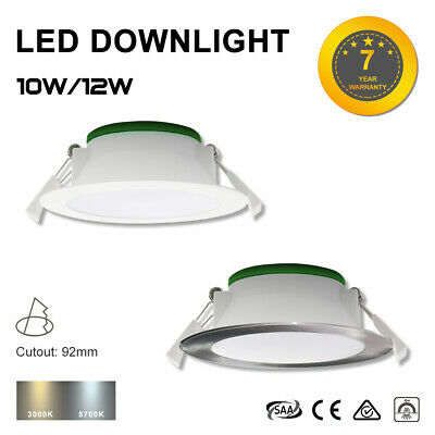 Alux 12W Led Downlight Kit 92Mm Cutout Non-Dim Ip44 Warm/Cool White Smd