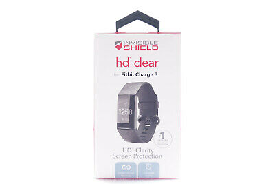 AUTHENTIC ZAGG Invisible Shield HD Clear Screen Protector for Fitbit Charge 3