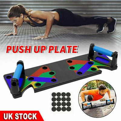 9in1 Push-up Board Stand Fitness Workout System Gym Muscle Training Exercise FNN