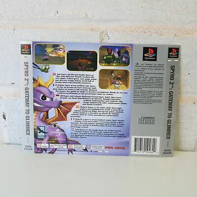 Rear Back Inlay Box Art For Ps1 Spyro 2 The Dragon Gateway To Glimmer Game