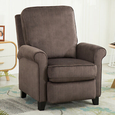 "Modern Push Back Recliner Chair Reclining Padded Seat Armchair Single Sofa 21""W"