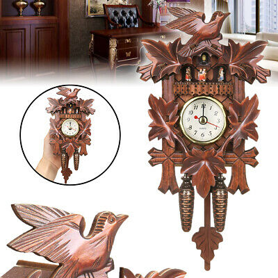 Europea Vintage Cuckoo Clock Swing Wooden Wall Clock Alarm Home Decoration