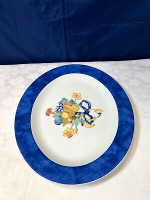 Bernardaud Limoges Porcelain Borghese Bleu Plat Ovale - Vassoio  Tray NEW IN BOX