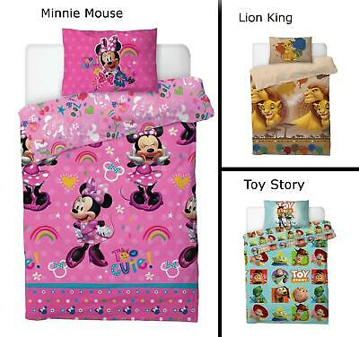 Disney Duvet Cover Sets Toy Story or Minnie Mouse or Lion King Bedding Bed Sets