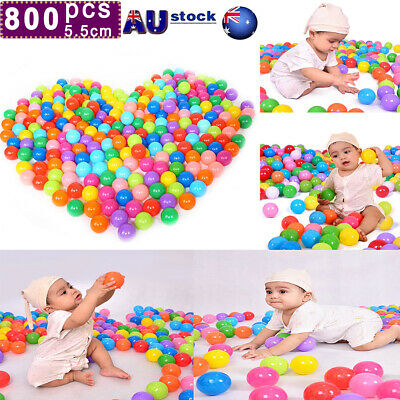 50-800pc Ocean Ball Pit Balls Play Kids Plastic Baby Soft Toy Colourful Playpen