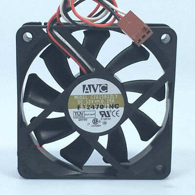 1x AVC D4020B12H 4020 0.17A 3 pin DC 12V case silent cooling fan quiet #M3794 QL