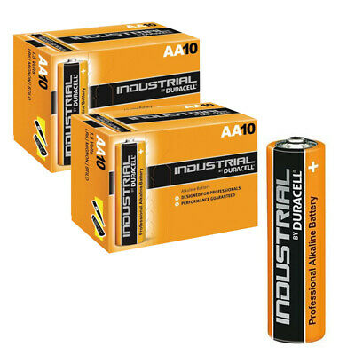 20 x DURACELL INDUSTRIAL ALKALINE AA BATTERIES EXPIRE 2026 PROFESSIONAL 1.5V