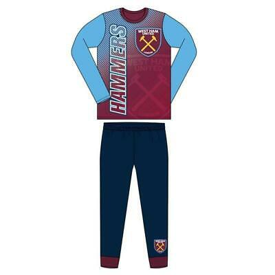 West Ham United Pyjamas Pjs Nightwear Official Age 4-12 Years Hammers Irons