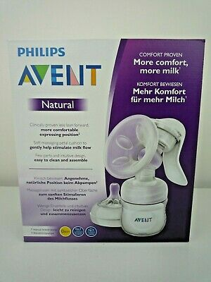 Philips Avent Natural Comfort Manual Breast Pump New & Sealed