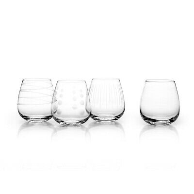 Mikasa Cheers Stemless Wine Glasses, Set of 4