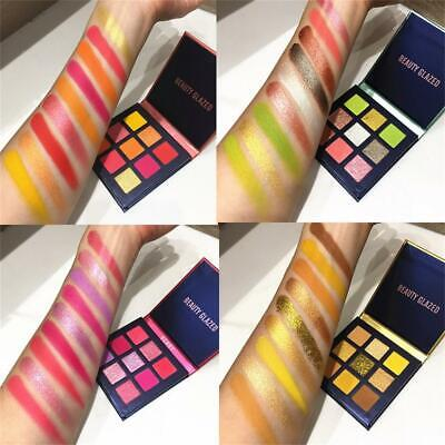 9 Colors Matte Mineral  Shimmer Shining Neon Eyeshadow Eyeshadow Palette
