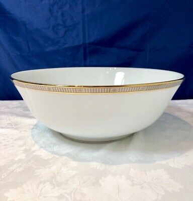 Bernardaud Limoges Madison Platine Saladier / Salad bowl / Insalatiera NEW