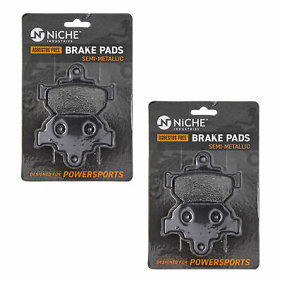 NICHE Brake Pad Set Suzuki Boulevard GZ250 Savage 650 Front Semi-Metallic 2 Pack