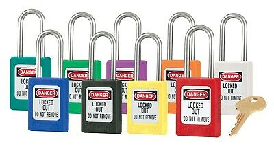 Zenex Lockout Safety Padlock. 31S. 9 Colours. Non-Conductive Body. Ss Shackle.