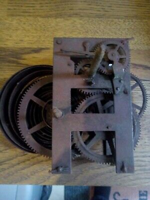 Antique Unbranded Clock Movement (spares or repair) possibly weight driven