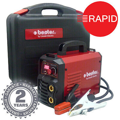 Lincoln Bester 210-ND Inverter Arc MMA Welder Package, Two Year Warranty - 230v