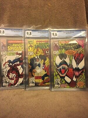 Amazing Spider-Man #361, 362, 363 CGC 9.8 1st Full App Of Carnage Movie! HOT!