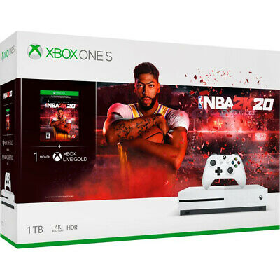 Microsoft Xbox One S Bundle: 1 TB Console with NBA 2K20 and Wireless Controller