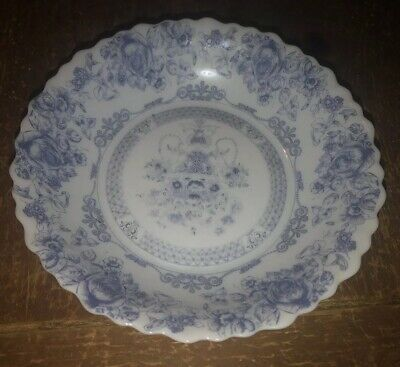 "Vintage Arcopal Honorine Soup Bowl France Blue White Floral  7"" Multiples"