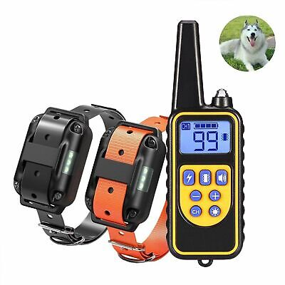 1/2/3 Dog Training Shock Collar With Remote Waterproof LCD Rechargeable 880 Yard