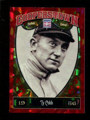 2013 Panini Cooperstown Red Crystal #5 Ty Cobb /399 - NM-MT