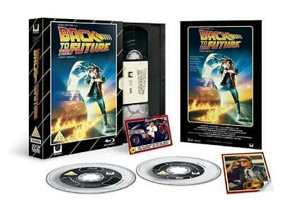 Neuf Blu Ray Film + DVD Disques Back To The Future Limité Édition VHS Pack +