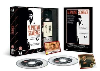 Neuf Blu Ray Film + DVD Disques Scarface Limité Édition VHS Pack + Plus