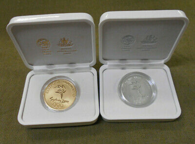 #D394.  Two(2) Sydney 2000 Olympic Subscriber Medallions - Gold & Silver Coin