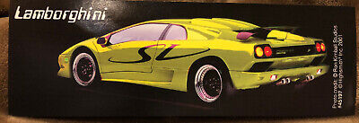 "Lamborghini Photo Card Sports Car Credit By Ron Kimball 2001 6x2"" Advertising"