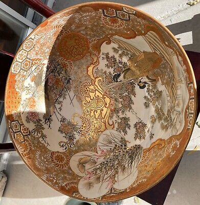 Superb Antique Japanese Satsuma Kutani Punch Bowl