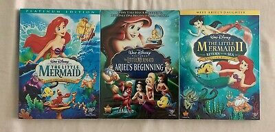The Little Mermaid, Ariel's Beginning, and Return to the Sea Trilogy New DVD