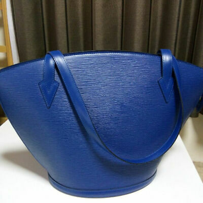 Authentic LOUIS VUITTON Hand BAG Sanjack Epi Leather Type Toledo Blue