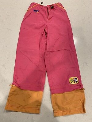 Vintage BARBIE Track Pants Jumpsuit Pink Orange Sweatpants Girls Size 8 Youth