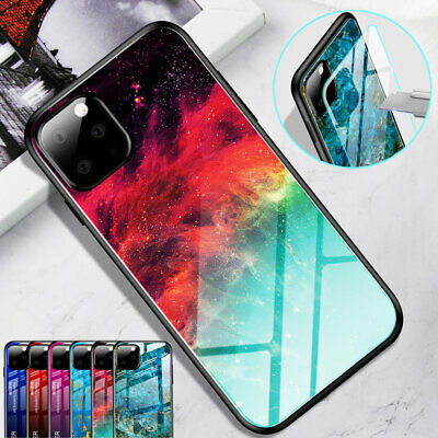 Slim Hybrid Marble Tempered Glass Hard Case Cover for iPhone 11 Pro Max XR XS 8+
