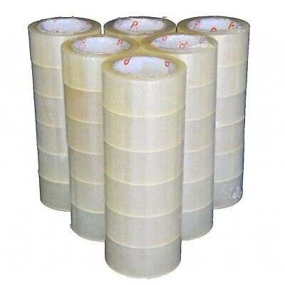 36 ROLLS PACKAGING TAPE STRONG CLEAR / BROWN  48mm x 66M PACKING PARCEL