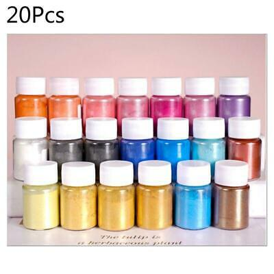 20 Bottle Pearlescent powder Epoxy Resin Dye Pigment Natural Mica Mineral Powder