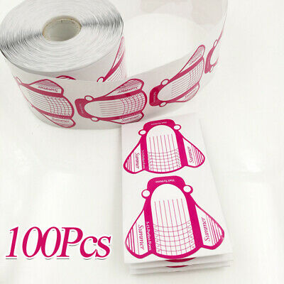 Nail Art Form Stickers Self adhesive Extension UV Builder Tips Gel Forms