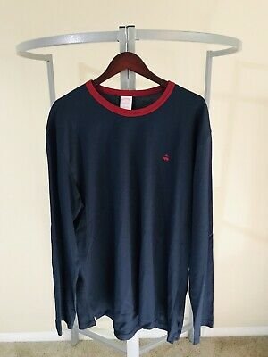 Brooks Brothers 1818 Mens Long Sleeve T-Shirt Blue Size L New